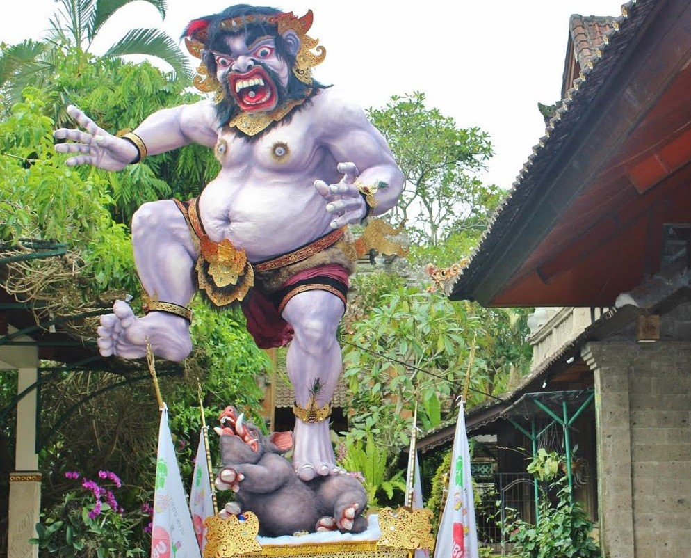Ogoh Ogoh in Bali during Nyepi